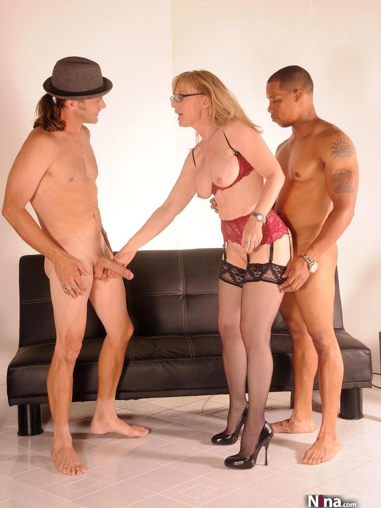 image Horny blonde mif goes crazy masturbating